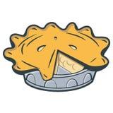 Rocznika jabłczany kulebiak Zdjęcia Stock