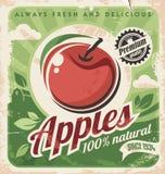 Rocznika jabłka plakat royalty ilustracja