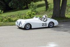1949 rocznika Jaguar 23 samochód wyścigowy Obrazy Royalty Free