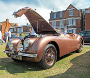 Rocznika jaguar xk120 bawi się silnika Obrazy Stock