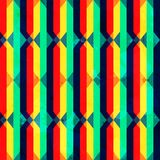 Rocznika jaskrawego rhombus bezszwowa tekstura z grunge skutkiem Zdjęcie Royalty Free