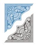 Rocznika kąta ornament i rama Zdjęcie Stock