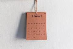 Rocznika kalendarza 2017 handmade zrozumienie na ścianie Zdjęcie Royalty Free