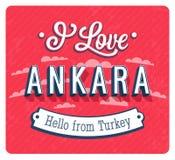 Rocznika kartka z pozdrowieniami od Ankara, Turcja - Zdjęcia Stock