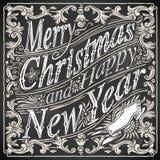 Rocznika kartka z pozdrowieniami tekst na Blackboard Obraz Royalty Free