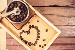Rocznika kawowy ostrzarz Zdjęcia Royalty Free