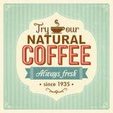 Rocznika kawowy plakat z grunge skutkami Zdjęcie Stock