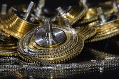 Rocznika Kieszeniowego zegarka Fusee łańcuch Coiled Wokoło Fusee rożka Zdjęcie Royalty Free