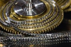 Rocznika Kieszeniowego zegarka Fusee łańcuch Coiled Wokoło Fusee rożka Fotografia Royalty Free