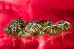 Rocznika Kieszeniowego zegarka Fusee rożki Odpoczywa na rewolucjonistki powierzchni Obrazy Stock