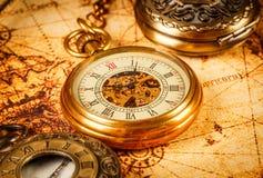 Rocznika kieszeniowego zegarka rocznika antyk Zdjęcia Stock