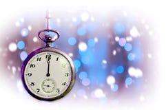 Rocznika kieszeniowego zegarka uderzająca północ Obraz Stock