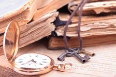 Rocznika kieszeniowego zegarka zbliżenie Obrazy Stock