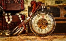 Rocznika kieszeniowy zegarek zdjęcia royalty free