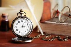 Rocznika kieszeniowy zegarek obraz royalty free
