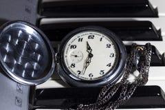 Rocznika kieszeniowy zegarek fotografia stock