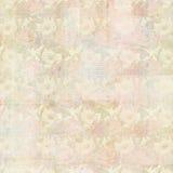 Rocznika kolażu Grungy Antykwarski tło z kwiatami i efemeryda, Zdjęcie Stock