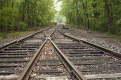 Rocznika kolejowy ślad w wsi Obrazy Stock