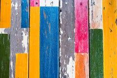 Rocznika kolorowego drewnianego grunge tekstury drewniany tło Obraz Royalty Free
