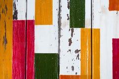Rocznika kolorowego drewnianego grunge tekstury drewniany tło Obrazy Royalty Free