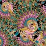 Rocznika kolorowy barokowy bezszwowy wzór Wektorowy multicolor flo Zdjęcia Royalty Free