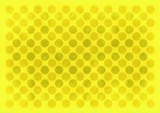 Rocznika koloru żółtego okregów wzór Obraz Stock