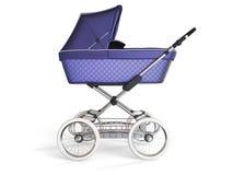 Rocznika koloru projekta fiołkowy wózek spacerowy 3 d czynią Zdjęcie Royalty Free