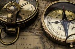 Rocznika kompas Zdjęcie Stock