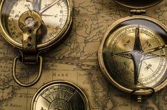 Rocznika kompas Obraz Stock