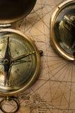 Rocznika kompas Zdjęcia Royalty Free