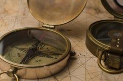 Rocznika kompas Fotografia Stock