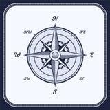 Rocznika kompas, wiatr Wzrastał ilustracja wektor