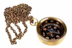 Rocznika kompas z łańcuchem Fotografia Royalty Free