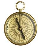 Rocznika kompasu odosobniona 3d ilustracja ilustracja wektor