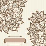 Rocznika koronkowy tło, abstrakcjonistyczny ornament wektor Zdjęcia Royalty Free