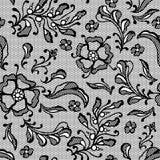 Rocznika koronkowy tło, ornamentacyjni kwiaty Fotografia Royalty Free