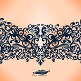 Rocznika Koronkowy Tasiemkowy bezszwowy wzór. ilustracji