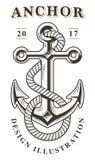 Rocznika kotwicowy emblemat Obraz Stock