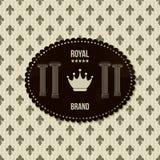 Rocznika królewski tło Obrazy Royalty Free