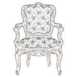 Rocznika krzesło royalty ilustracja