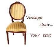 Rocznika krzesło Fotografia Royalty Free
