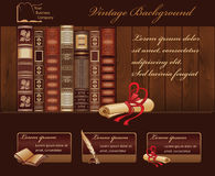 Rocznika Książkowy tło Fotografia Stock