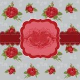 Rocznika Kwiatu Karta Obrazy Stock