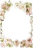 Rocznika kwiatu rama ilustracja wektor