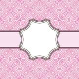 Rocznika kwiatu ramy projekta wektorowy tło Ilustracji