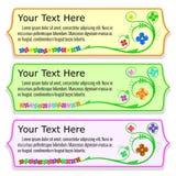 Rocznika kwiatu sztandar Obraz Stock