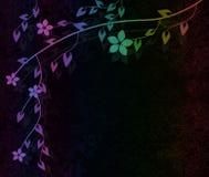 Rocznika kwiatu tło Zdjęcia Royalty Free