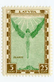 Rocznika Latvia airmail nowy znaczek 1932 Icarus Zdjęcie Royalty Free