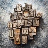 Rocznika letterpress typ Obraz Royalty Free