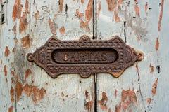 Rocznika listowego pudełka szczelina Antigua Gwatemala Obraz Stock
